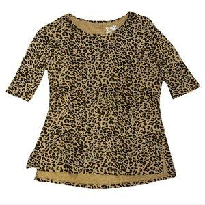 NWT Terra Sky Plus Size Leopard Print Tunic Top